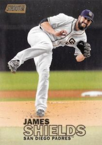 2016 Topps Stadium Club Baseball Base Gold 78 James Shields