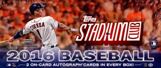 2016 Topps Stadium Club Baseball Cards 36