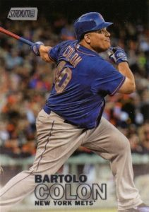2016 Topps Stadium Club Baseball Variations Bartolo Colon