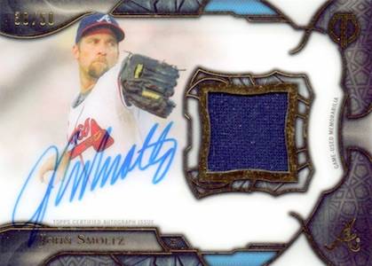 2016 Topps Tribute Baseball Cuts From the Cloth Autograph Relics Smoltz