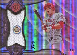 2016 Topps Tribute Baseball Stamp of Approval Relics Trout