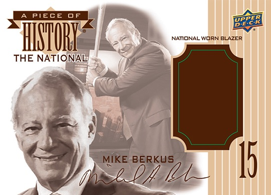 2016 Upper Deck A Piece of History Mike Berkus