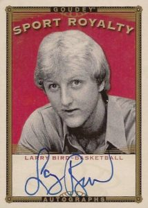 2016 Upper Deck Goodwin Champions Goudey Sport Royalty Autographs Larry Bird