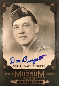 2016 Upper Deck Goodwin Champions World War II Museum Collection Signatures