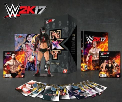 2016 Topps WWE 2K17 TakeOver London Relics in Special Video Game Edition 2