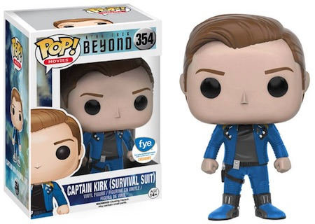 Funko Pop Star Trek Beyond 354 Captain Kirk Survival Suit FYE