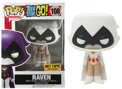 Funko Pop Teen Titans Go 108 Raven White Hot Topic