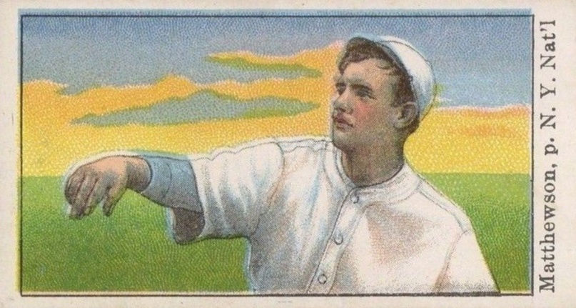 1909 E102 Set of 25 Christy Mathewson