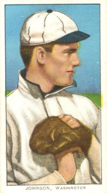 1909 T206 Walter Johnson Hands on Chest