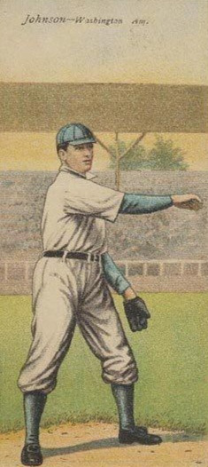 1911 T201 Mecca Double Folders Walter Johnson