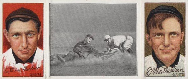 1912 T202 Hassan Christy Mathewson & Art Devlin GETS HIS MAN