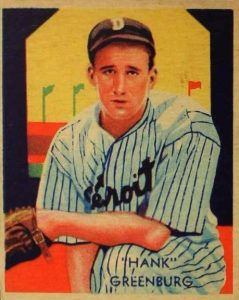 1934-1936 Diamond Stars Hank Greenburg Variation #54