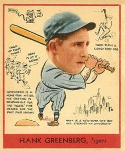 1938 Goudey Hank Greenberg #277