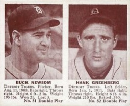 1941 Double Play Buck Newsom Hank Greenberg #51-#52