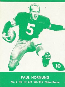Top 10 Paul Hornung Football Cards 1