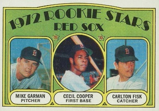 1972 Topps Mike Garman, Cecil Cooper, Carlton Fisk RC #79