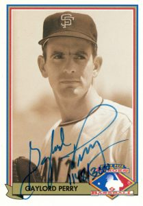 1991 Upper Deck Baseball Heroes Gaylord Perry Autograph #H2