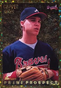 1995 Bowman Gold Foil Chipper Jones #262