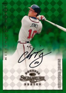 1998 Donruss Signature Series Millennium Marks Chipper Jones Autograph