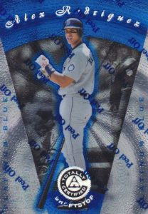 1997 Pinnacle Totally Certified Platinum Blue Alex Rodriguez #22