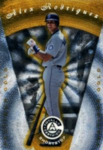 1997 Pinnacle Totally Certified Platinum Mirror Gold Alex Rodriguez #22