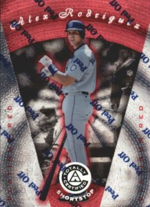 1997 Pinnacle Totally Certified Platinum Red Alex Rodriguez #22