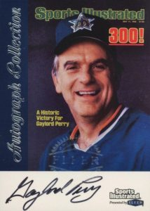 1999 Fleer Sports Illustrated Greats Gaylord Perry Autograph
