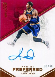 2015-16 Panini Preferred Basketball Autographs Kyrie irving