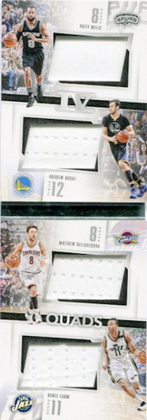 2015-16 Panini Preferred Basketball Quads Book