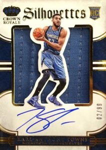 2015-16 Panini Preferred Basketball Rookie Silhouettes Autographs Karl Anthony Towns