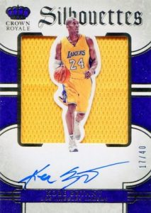 2015-16 Panini Preferred Basketball Silhouettes Autographs Kobe Bryant