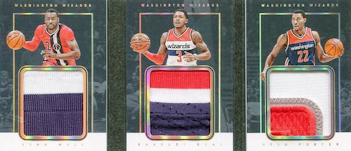 2015-16 Panini Preferred Basketball Triple Patch Book
