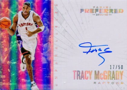 2015-16 Panini Preferred Basketball Unparalleled Autographs McGrady