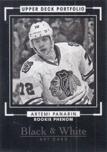 2015-16 Upper Deck Portfolio Hockey base Black White Art Panarin