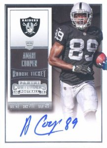 Amari Cooper Rookie Card Gallery and Checklist 10