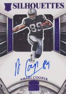 2015 Panini Crown Royale Amari Cooper RC #201 Autographed Relic Purple