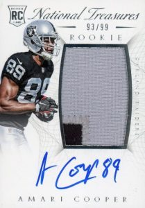 2015 Panini National Treasures Amari Cooper RC #126 Autographed Patch