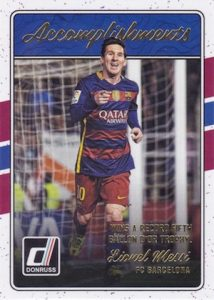 2016-17 Donruss Soccer Accomplishments Messi