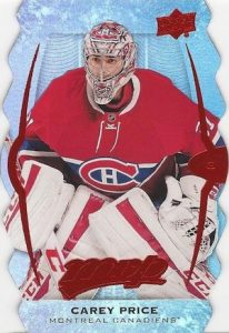 2016-17 Upper Deck MVP Hockey Colors and Contours Parallel Carey Price