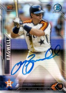 2016 Bowman Chrome Rookie Recollections Jeff Bagwell Autograph #RRAJB