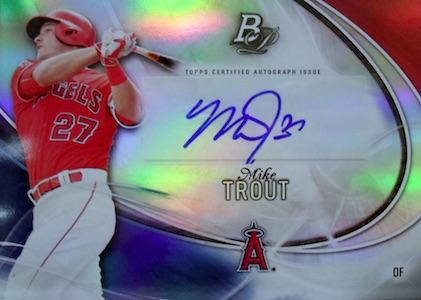 2016 Bowman Platinum Baseball Autographs Mike Trout