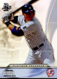 2016 Bowman Platinum Presence Aaron Judge