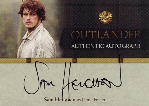 2016 Cryptozoic Outlander Season 1 Autograph Sam Heughan as Jamie Fraser