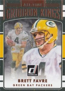 2016 Donruss Football All-Time Gridiron Kings Favre