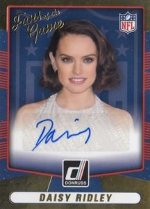 2016 Donruss Football Fans of the Game Autograph Daisy Ridley