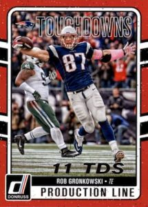 2016 Donruss Football Production Line Touchdowns
