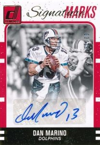 2016 Donruss Football Signature Marks Dan Marino