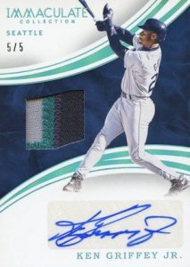 2016 Immaculate Baseball Autograph Materials Griffey