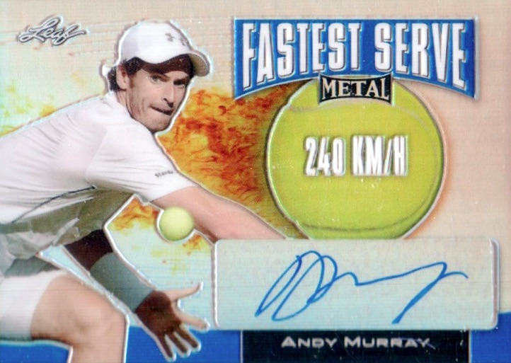2016 Leaf Metal Tennis Fastest Serve Autograph Andy Murray