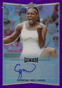 2016 Leaf Metal Tennis Purple Autograph Serena Williams